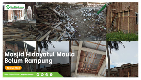 Masjid Hidayatul Maula Belum Rampung