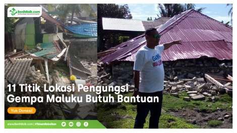 11 Titik Lokasi Pengungsi Gempa Maluku Butuh Bantuan