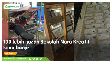 Yayasan Nara Kreatif Terendam Banjir
