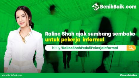 Raline Shah Ajak Sumbang Sembako Untuk Pekerja  Informal