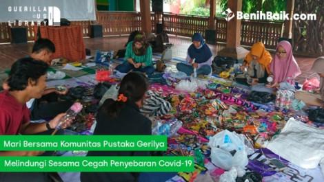 Mari Bersama Komunitas Pustaka Gerilya Melindungi Sesama Cegah Penyebaran Covid-19