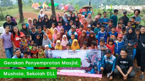 Gerakan Penyemprotan Tempat Ibadah dan Sekolah di Serang, Banten
