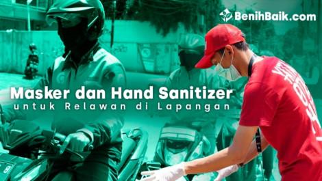 Masker Dan Hand Sanitizer Untuk Penjaga Dapur Umum