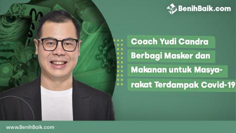 Coach Yudi Candra Berbagi Masker daan Makanan untuk Masyarakat Terdampak Covid-19