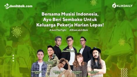 Bersama Musisi Indonesia, Ayo Beri Sembako Untuk Keluarga Pekerja Harian Lepas