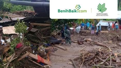 Bantu Korban Banjir di NTT Bersama Satunama