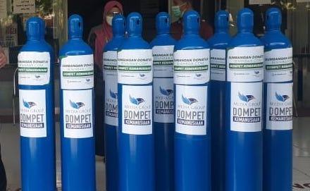 140 Tabung Oksigen Disalurkan untuk Membantu Mengatasi Kelangkaan