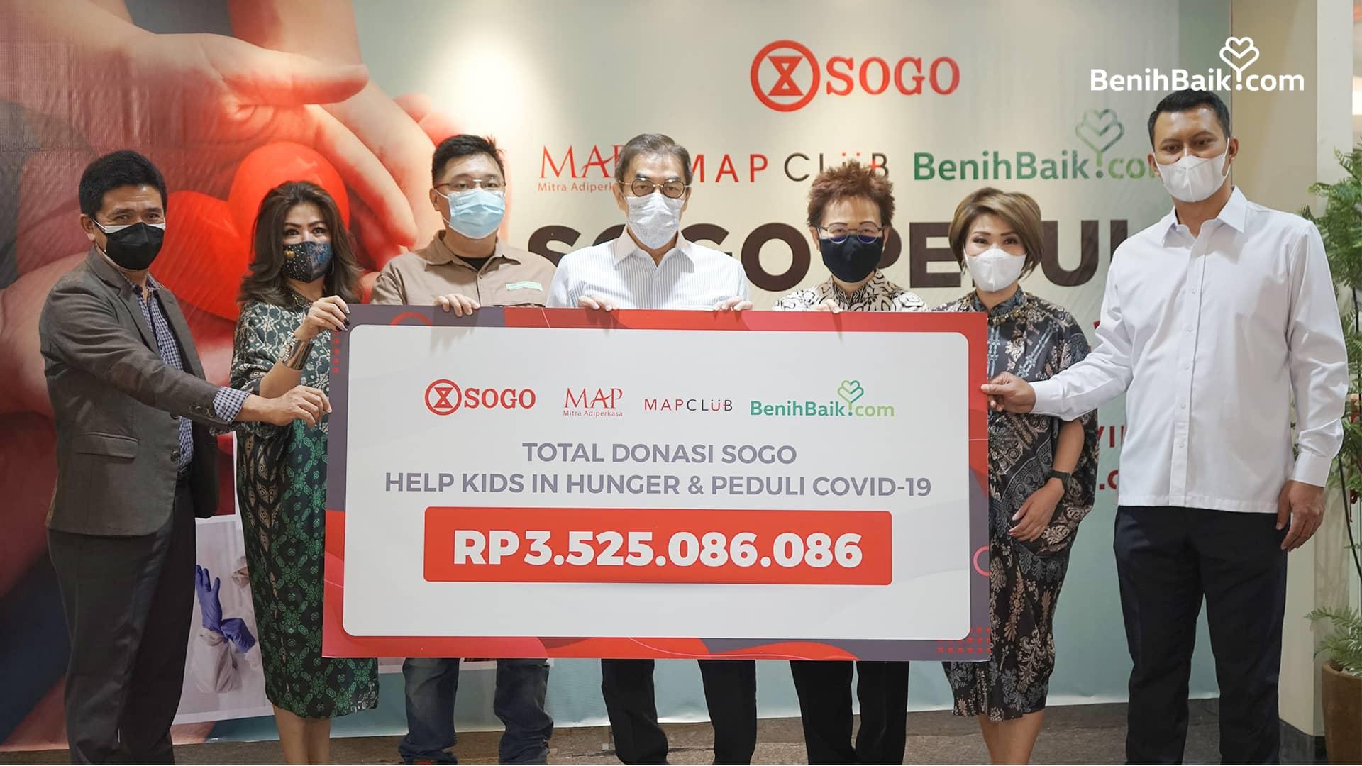 SOGO Berikan Donasi Lebih Dari Rp1,8 Miliar untuk Membantu Penanganan Covid-19